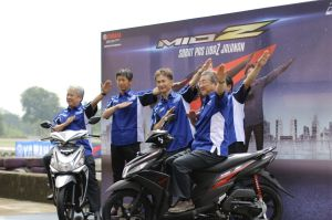 Management PT Yamaha Indonesia Motor Manufacturing (YIMM) saat press conference Mio Z (1)